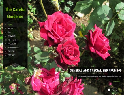 Website for The Careful Gardener