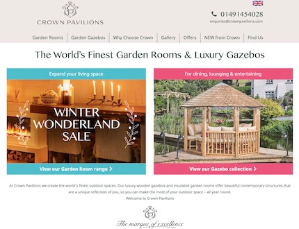 Garden Building Website created by James Browning | Freelance Web Developer in Brighton