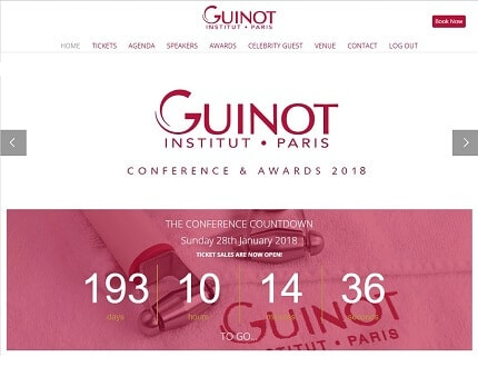 Conference website for Guinot Institut