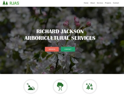 Website for Richard Jackson Arboricultural Services