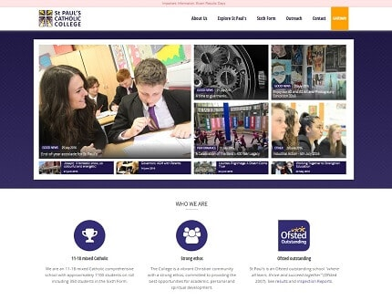 Website for St Paul's Catholic College, based in Mid Sussex